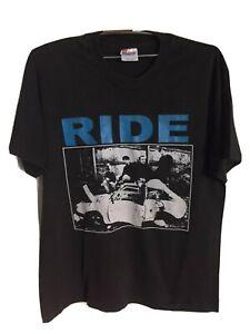 Vintage Ride 90s Britpop Rock T-Shirt size L Oasis Slowdive