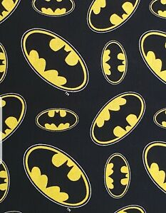 Batman fabric UK 100% cotton metre material Classic logo DC comics books knight