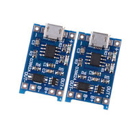 2Pcs/set 5V Micro USB 1A 18650 Lithium Battery Charging Board Charger JCAU
