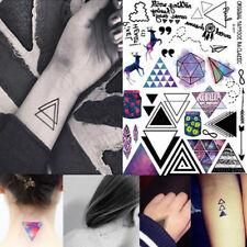 Temporary Geometric Tattoos Body Arm Leg Waterproof Flash Tattoo Stickers U