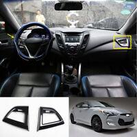For Hyundai Veloster 2012-2017 carbon fiber console L&R air outlet vent trim 2pc