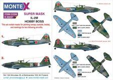 Montex Super Mask 1:32 IL-2 M for Hobby Boss Kit #2 Spraying Stencil #K32237