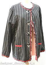 Koos of Course REVERSIBLE JACKET Retired SIZE L Red Black QVC artsy Coat Blazer