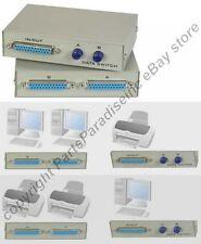 2way/port DB25 pin/wire AB Manual Data Switch Box,Parallel Printer/LPT Devi