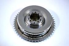 "Chrome Mechanical Brake Drum Flat Knuckle Panhead Rigid OHV SV 61 74"" EL FL UL"