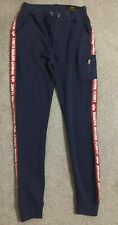 Men Alpha Industries Jogger Fleece King Casual Cuffed Gym Skinny Fit Blue Size L