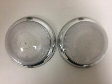 Peugeot 403 Front Turn Light Lens Set Clear - NEW - (#815)