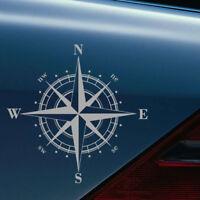 1 Piece Waterproof Art Design NSWE Compass Car Sticker PET Decal Universal Top