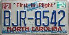 GENUINE North Carolina First in Flight USA License Licence Number Plate BJR 8542