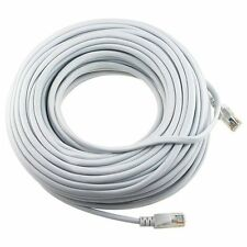 100FT ETHERNET NETWORK WHITE CAT5 CAT5E CABLE 100' FT US SELLER FAST SHIPPING