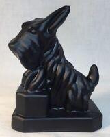 Boyd Art Glass #51 Night Watch Black Satin JB Scottie Dog Made For Woodandmore