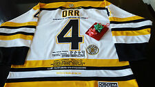 Boston Bruins Bobby Orr Career Stats Tribute  jersey SZ52