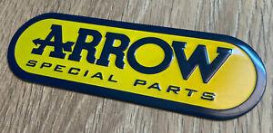 Arrow Metal Badge Exhaust Sticker Decal Heatproof 135mm x 45mm