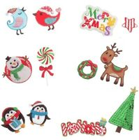 Christmas Characters Embroidered Patch Applique Sew on/ Iron on - Pack of 2