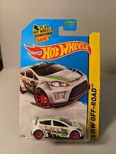 2012 Ford Fiesta - 2014 Hot Wheels Road Rally Treasure Hunt-  White Ken Block