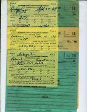 SEABOARD COAST LINE RAILROAD TRAIN ORDERS (16) RICHMOND, VIRGINIA  1969-1971.