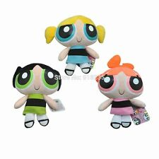 Set Of 3 Powerpuff Girls Plush Toy Baby Soft Doll 20cm Blossom Buttercup Bubbles