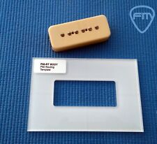 P90 Routing Template Transparent Acrylic _ GUITAR - Luthier tool