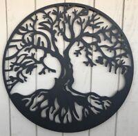 37'' Tree Of Life Metal Hanging Wall Art Contemporary Indoor Outdoor Home Decor