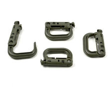 4pc Molle Clip Carabiner Locking D-Ring Hook for Vest, Hiking Safety Buckle New