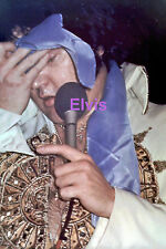 ELVIS PRESLEY IN MEXICAN SUNDIAL SUIT WIPING SWEAT WITH BLUE SCARF PHOTO CANDID