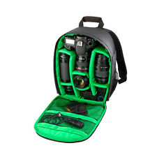 Waterproof DSLR Camera Lens Backpack Case Bag Green for Canon Nikon Green