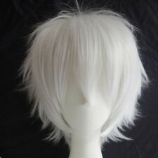 Hot UNISEX Male Female Anime Short Wig Blue Brown Blonde Straight Cosplay Wigs s