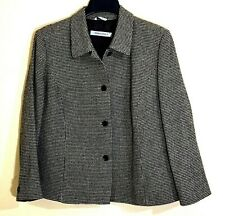 Marina Rinaldi Jacket Skirt 2 Piece Career Sz 25 US16 Wool Blend Tweed Italian
