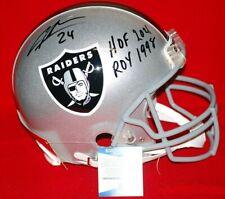 CHARLES WOODSON oakland raiders signed FULL SIZE AUTHENTIC helmet Beckett HOF