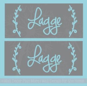 Last Name Etching Stencils Laurels Personalized Vinyl Decals for Wedding Gifts