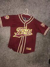 fsu baseball jersey Red Vintage Florida State University Seminoles Size Large