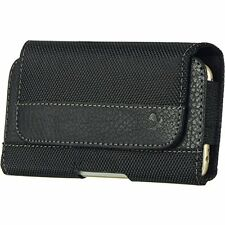Black3 Horizontal Belt Clip Leather Pouch Case for Motorola Droid Turbo 2 Moto X