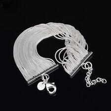 New Women Jewelry Silver Plated snake bone Chain Bracelet Bangle