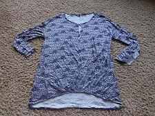 DAISY FUENTES women's NWT sz M pleat waist high low tunic onyx cobo color blouse