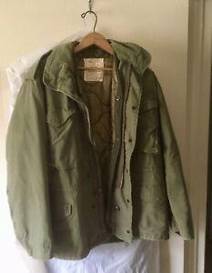 Vintage US Military M65 men's medium jacket including cold weather liner