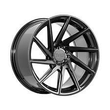 [4X] F1R F29 17X8.5 +38 5x100/114.3 Gloss Black Matte Black Face wheels