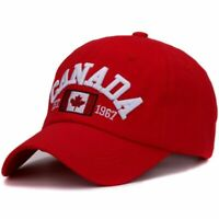 Embroidered Canada Baseball Cap Curved Adjustable Snapback Outdoor Hat Men Women
