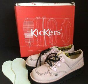 KICKERS Kick Lo Creepy Suede Platform Shoes in Barely Pink - Ladies SIZE EU 40
