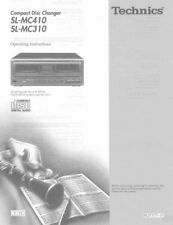 Technics SL-MC310 SL-MC410 CD Changer Owners Instruction Manual Reprint