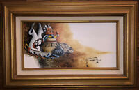 Original Native American Oil On Canvas Painting Signed Listed Artist Keith Adams
