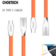 2x Genuine Choetech 1.2M USB-C Type C To USB-A Premium TPE FAST Charging Cable