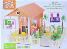 New Kids Girls Doll House Learning Play Set 124 Pcs with Sound and Light Options