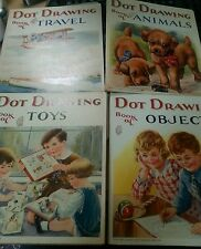 lot 4 antiquarian game & activity dot drawing books Sam'l Samuel Gabriel Sons