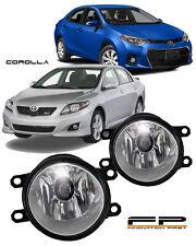 2009-2015 Toyota Corolla Clear Lens Replacement Fog Light Housing LH/RH Pair