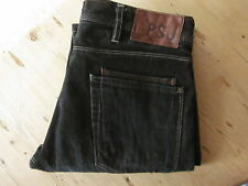 PAUL SMITH JEANS PSJ 30x31 BLACK/GREY 100% COTTON SLIM/STRAIGHT BUTTON-FLY (more