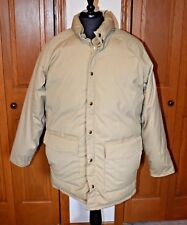VTG Men's GOOSE DOWN COAT WOOLRICH Field Jacket Puffer Parka NM Large Tan