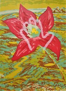 Victor MAJZNER Wet Noon - Signed Original Screenprint, Surreal Floral Landscape