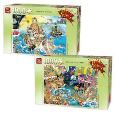 2 x 1000 Piece Comic Jigsaw Puzzles - Rocking Stones & Boston Tea Party