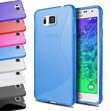 Housses et coques anti-chocs Samsung Galaxy Alpha en silicone, caoutchouc, gel pour téléphone mobile et assistant personnel (PDA)