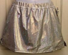 Gk Elite Cheer Skirt Adult Medium White Hologram School Fit Am Nwt!